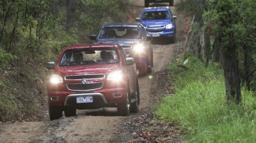 Holden's Colorado Space Cab feels right at home on a dirt track or job site.