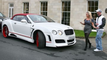 Flamboyant ... Stephen Ireland's gift to his girlfriend, a customised Bentley.