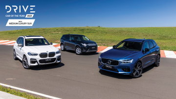 Drive Car of the Year Best Medium Luxury SUV 2021 finalists group photo
