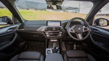 Drive Car of the Year Best Medium Luxury SUV 2021 finalist BMW X3 front interior view