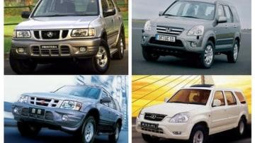 Left, top to bottom: Holden Frontera v Landwind Right, top to bottom: Honda CRV vs Laibao SRV