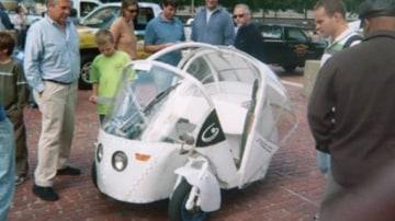 Jory Squibb's three-wheel car.
