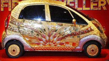 Gold Tata Nano.