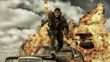 Tom Hardy stars in Mad Max: Fury Road.