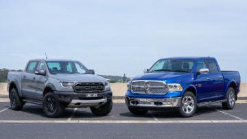 Head-to-head: Ford Ranger Raptor v Ram 1500 Laramie.