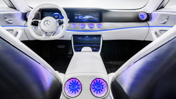 Mercedes-Benz previews the new CLS with its Intelligent Aerodynamic Automobile (IAA) concept.