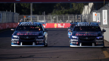 Shane van Gisbergen and Jamie Whincup scored a one-two win for Red Bull Holden.
