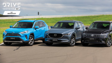 Drive Car of the Year 2021 Best Medium SUV group shot