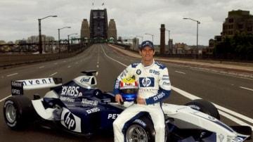Mark Webber before his promotional drive across the Sydney Harbour Bridge