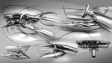 New Mercedes GLE interior sketches