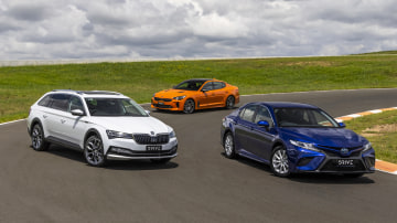Drive Car of the Year Best Medium To Large Car finalists group photo