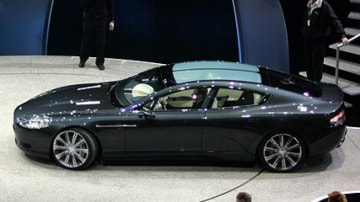 The 2006 Aston Martin Rapide concept was unveiled at the Detriot motor show.