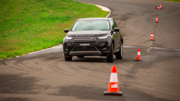 Drive Car of the Year Best Medium Luxury SUV 2021 finalist Land Rover Discovery Sport on road