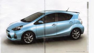 2012 Toyota Prius C Revealed In Leaked Brochure