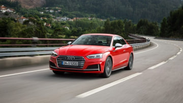 The Audi S5 Coupe offers turbocharged performance.