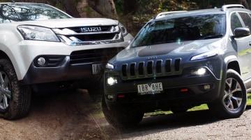 Comparison Review: Jeep Cherokee Trailhawk vs. Isuzu MU-X LS-U