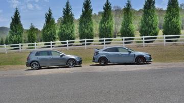 Honda Civic Type R v Volkswagen Golf R.