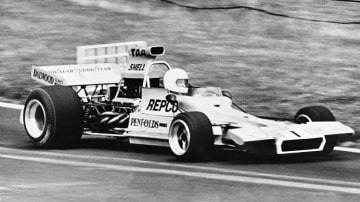 Multi-talented: Matich was as talented building cars as he was racing them. This is him behind the wheel of his Matich A50 in the 1973 Tasman Series.