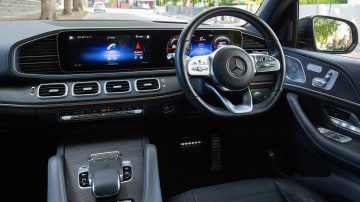 Drive Car of the Year Best Upper Large Luxury SUV 2021 finalist Mercedes-Benz GLS-Class driver seat interior view