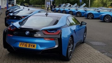 Leicester City Football Club stars will drive in style with matching BMW i8 supercars.