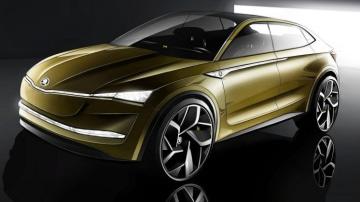 The Skoda Vision E concept previews the Czech brand's electric car future.