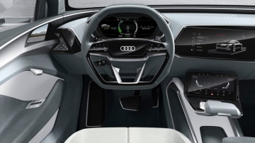 Inside Audi's e-tron Sportback concept.