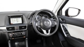 Updated CX-5 features a revised infotainment screen in the cabin