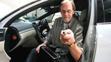 Paul Graham a car audio technician and expert tests the output and sound of in-car stereo system.