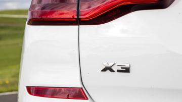 Drive Car of the Year Best Medium Luxury SUV 2021 finalist BMW X3 rear label
