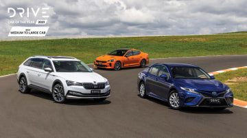 Drive Car of the Year Best Medium To Large Car 2021 finalists group photo
