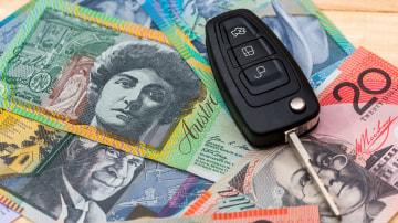 Car Key on Australian dollar notes