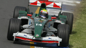 Australian Grand Prix Melbourne , Jaguar's Mark Webber 6th of March 2004 The Sunday Age Picture by JOE ARMAO SPECIAL GP