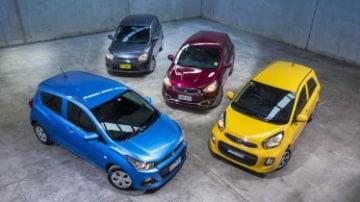 Holden Spark v Kia Picanto v Suzuki Celerio v Mitsubishi Mirage comparison review