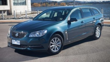 Winner: The Holden Commodore Sportwagon offers up plenty of family space.