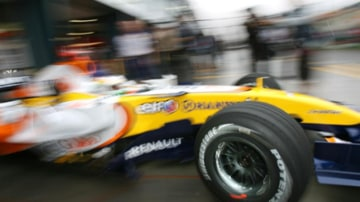 Renault driver Giancarlo Fisichella during practice this today. Picture: Vince Caligiuri