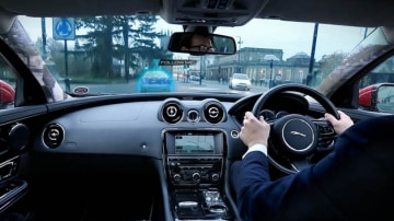 Heads-up: Jaguar Land Rover's new technology is designed to minimise driver distraction.