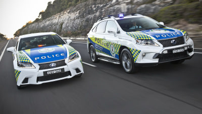 Lexus GS And RX Join NSW Police For Promo Work