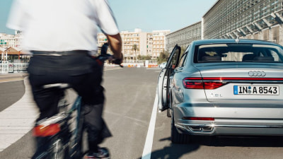 2018 Audi A8 Exit Warning Aims To Save Cyclists