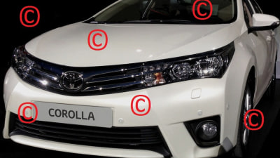 2014 Toyota Corolla Sedan Surfaces
