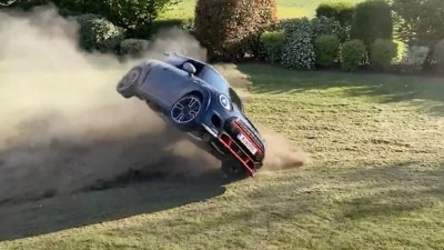 World's fastest Mini flips in back yard stunt gone wrong