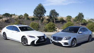 Lexus LS500h v Mercedes-Benz S350d Head-to-Head Review