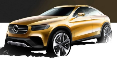 Mercedes GLC Coupe SUV Teased Ahead Of Shanghai Debut