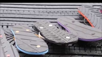 TireFlops Aim To Turn Used Tyres Into Fashionable Footwear: Video