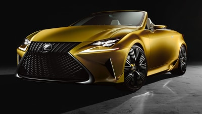 Lexus RC Convertible Previewed As LF-C2 Concept Debuts In LA