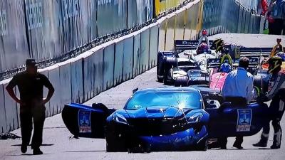 Motorsport: Safety car upstages Indycar in Detroit