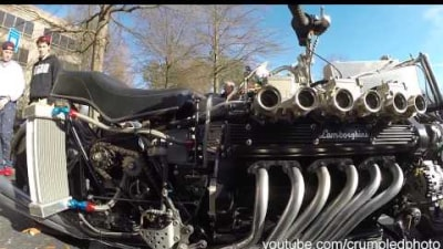 Lamborghini V12 Engine In A… Motorcycle?