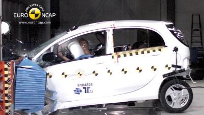 Mitsubishi i-MiEV Awarded 4-Star Euro NCAP Safety Rating In Landmark EV Test