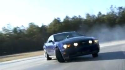 Vaughn Gitten Jnr Smashes World Drifting Record In Bone-Stock 2010 Mustang GT