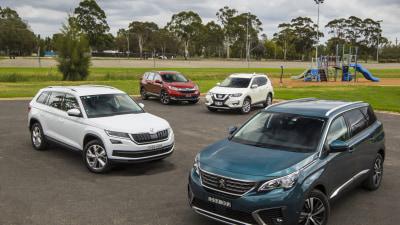 Peugeot 5008 v Skoda Kodiaq v Nissan X-Trail v Honda CR-V comparison review
