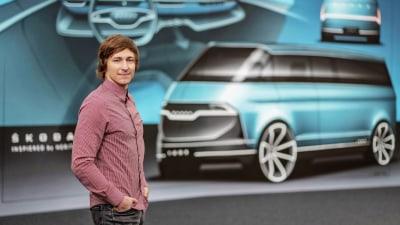 Designer pens modern take on Skoda's classic van